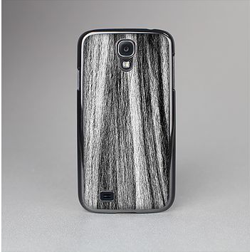 The Black and Grey Frizzy Texture Skin-Sert Case for the Samsung Galaxy S4
