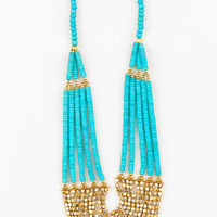 Rock Candy Bib Necklace in Turquoise :: tobi
