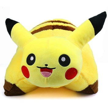 40cm Pikachu Pokemon Pet Pillow Sleep Cushion Soft Plush PM023 (Size: 42 cm, Color: Yellow) = 1946335940