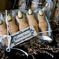 1 Gift Box of Five Creepy Finger Cookies Maple by Scrumpalicious