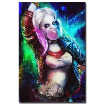 NICOLESHENTING Harley Quinn - Suicide Squad Art Silk Poster Print 13x20 24x36 inch Movie Minimalist Pictures Wall Decor 009