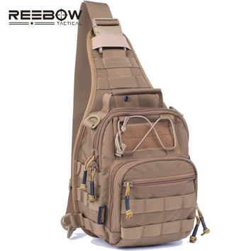 REEBOW TACTICAL Outdoor Military Camouflage Sling Pack 1000D Cordura Urban Sports Chest Bag SWAT Hunting Molle Messenger Bag
