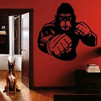 Ik1397 Wall Decal Sticker Kick Boxing Boxing Ring Gloves Tournament Gym