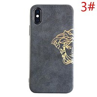 Versace New fashion human head letter print anti-fall couple protective cover phone case