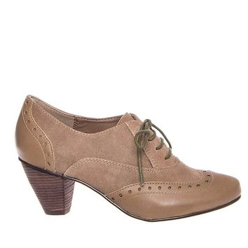 Chelsea Crew Monte - Taupe Lace-Up Oxford