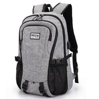 Bacisco 2017 Fashion Men's Canvas Backpack Multifunction USB Backpack 16inch Laptop Notebook Mochila School Backpack Bags