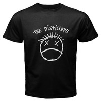 Print T Shirt Men Summer New The Distillers Punk Rock Band Logo Men'S T Shirt