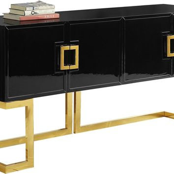 Beth Buffet Gold / Black Lacquer
