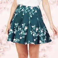 LC Lauren Conrad Runway Collection Floral Scuba Skirt - Women's