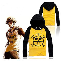Anime ONE PIECE Trafalgar·Law Cosplay Sweater Hoodie Death Surgeon Thick Winter = 1958395780