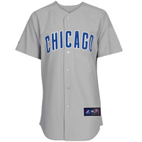 Majestic Chicago Cubs Gray Replica Baseball Jersey