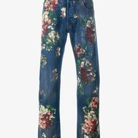 gucci mens floral painted jeans - Google Search