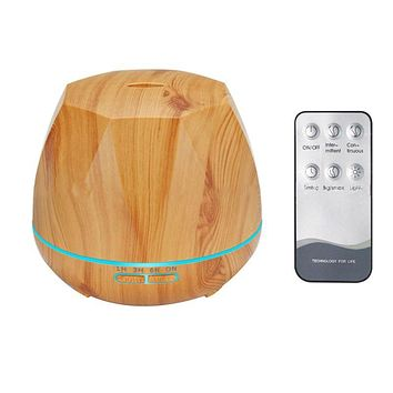 Wood Grain Ultrasonic Essential Oil Diffuser Light Auto Cut-Off Aroma Aromatherapy Fine Fog Humidifier Anti Slip Base House