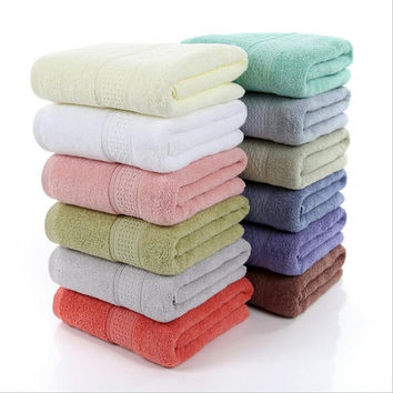 70*140cm 450g 12 Color Cotton Bath Towels,Solid SPA Bathroom Beach Terry Bath Towels for Adults Hotel Gift