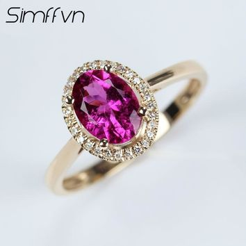 Simffvn Milgrain 18K White Gold 1.00CT   Natural Tourmaline Rings For Women Engagement Ring Gemstone Bridal Ring Wedding Set
