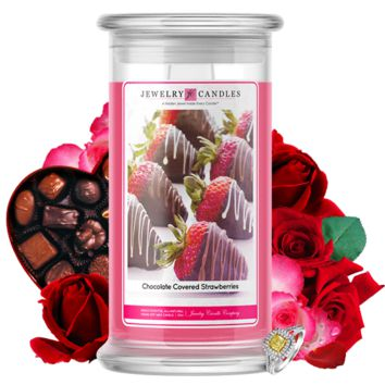 Chocolate Covered Strawberries | Valentine's Day Scented Jewelry Candle