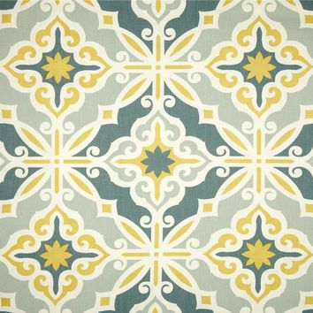 Starburst in Gold Fabric by the Yard   100% Cotton