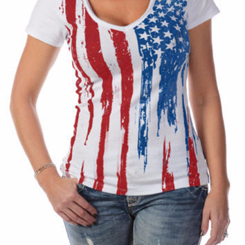 Old Glory Scoop Neck