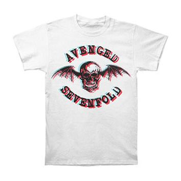 Avenged Sevenfold Men's  In 3D Logo T-shirt White