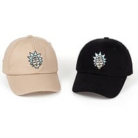 Rick and Morty New Khaki Dad Hat Crazy Rick Cotton Embroidery Unisex Snapback Baseball Cap