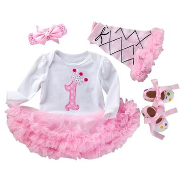 921ecffd9e1f9e My 1st First Birthday Outfits Summer Baby Clothes Toddler Girl S