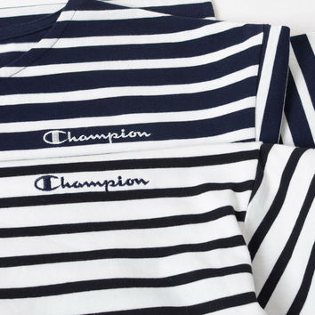 Champion cotton embroidery stripes [10522704199]