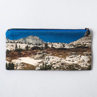 Landscape Cotton Pencil Pouch and Makeup Bag