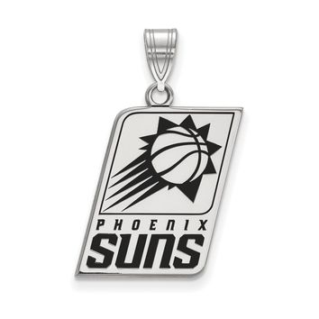 NBA Phoenix Suns Large Logo Pendant in Sterling Silver