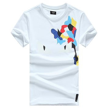 Trendsetter  FENDI Women Man Fashion Print Sport Shirt Top Tee