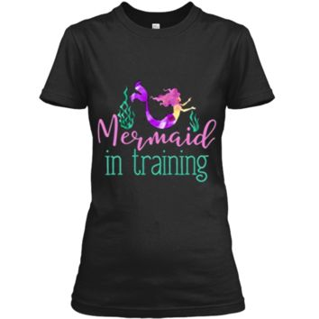 Mermaid In Training Outfit for Girls Kids Women T Shirt Ladies Custom