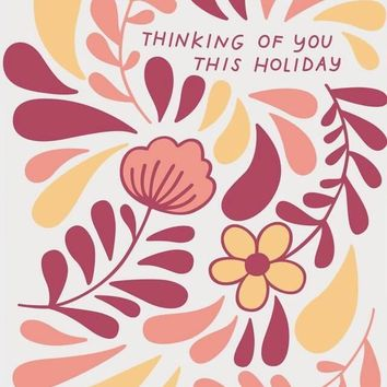 Thinking of You Holiday Card