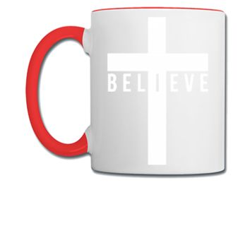 cross believe car decal sticker - Coffee/Tea Mug