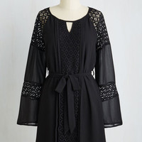 Boho Mid-length Long Sleeve A-line Young, Beguiled, and Free Dress