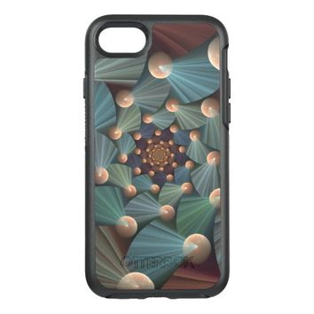 Modern Fractal Art with Depth Pattern OtterBox Symmetry iPhone 7 Case