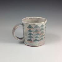 Blue Triangle Mug