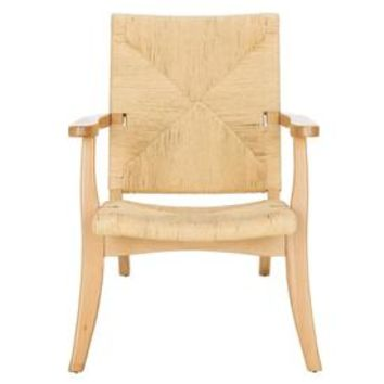 Shop Safavieh Bronn Coastal Natural Accent Chair at Lowes.com