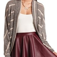 STRIPED DOLMAN COCOON CARDIGAN