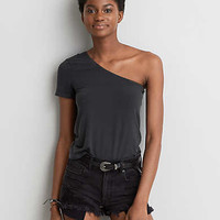 AEO Soft & Sexy One Shoulder T-Shirt , Starry Bright