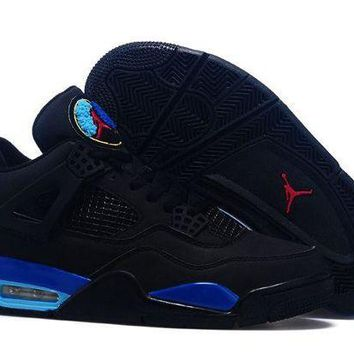 DCCKL8A Jacklish Air Jordan 4 Retro Custom Black Aqua For Sale Online