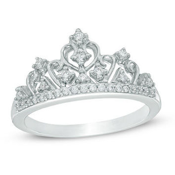 1/5 CT. T.W. Diamond Tiara Ring in Sterling Silver - Save on Select Styles - Zales