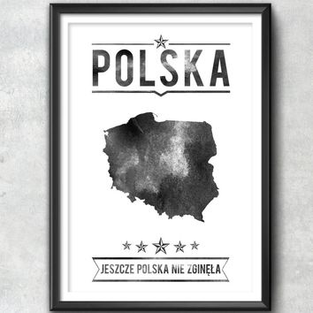 Poland Typography Print, Poland Poster, Poland Wall Art, Poland Gift, Poland Decor, Poland Print, Poland Map, Poland Decor, Poland