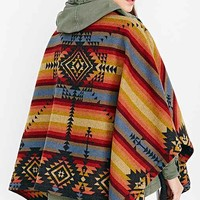 Pendelton Chaparral Reversible  Poncho- Black Multi One