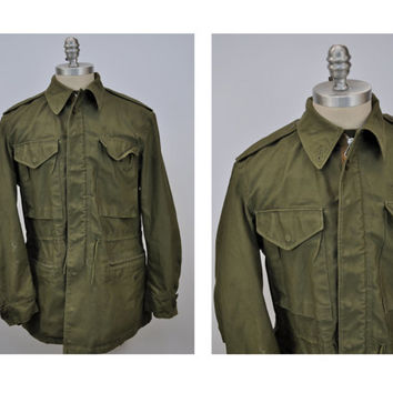 M65 vintage military army field jacket coat small regular m1951 TAXI DRIVER small regular dated 1952