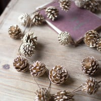 Pinecone Garland- Gold