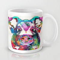 Colorful Pig Art - Squeal Appeal - By Sharon Cummings Mug by Sharon Cummings