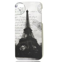 uxcell Retro Style Paris Eiffel Tower Doodle Design IMD Hard Back Case Cover for iPhone 5 5G