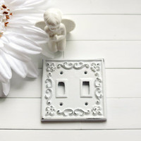 Light Switch Cover / Light Switch Plates / Light Switch Plate Cover / Double Light Switch Cover / Shabby Chic Decor / French Country Decor