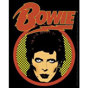 David Bowie Vinyl Sticker Face Logo