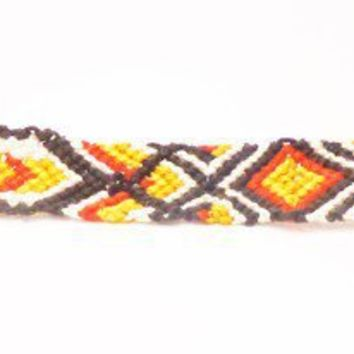 Macrame Gypsy Bracelet Bold Colors by HattieMcHatterson on Etsy