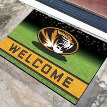 Missouri Tigers Door Mat 18x30 Welcome Crumb Rubber